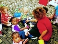 margate toddlers helping