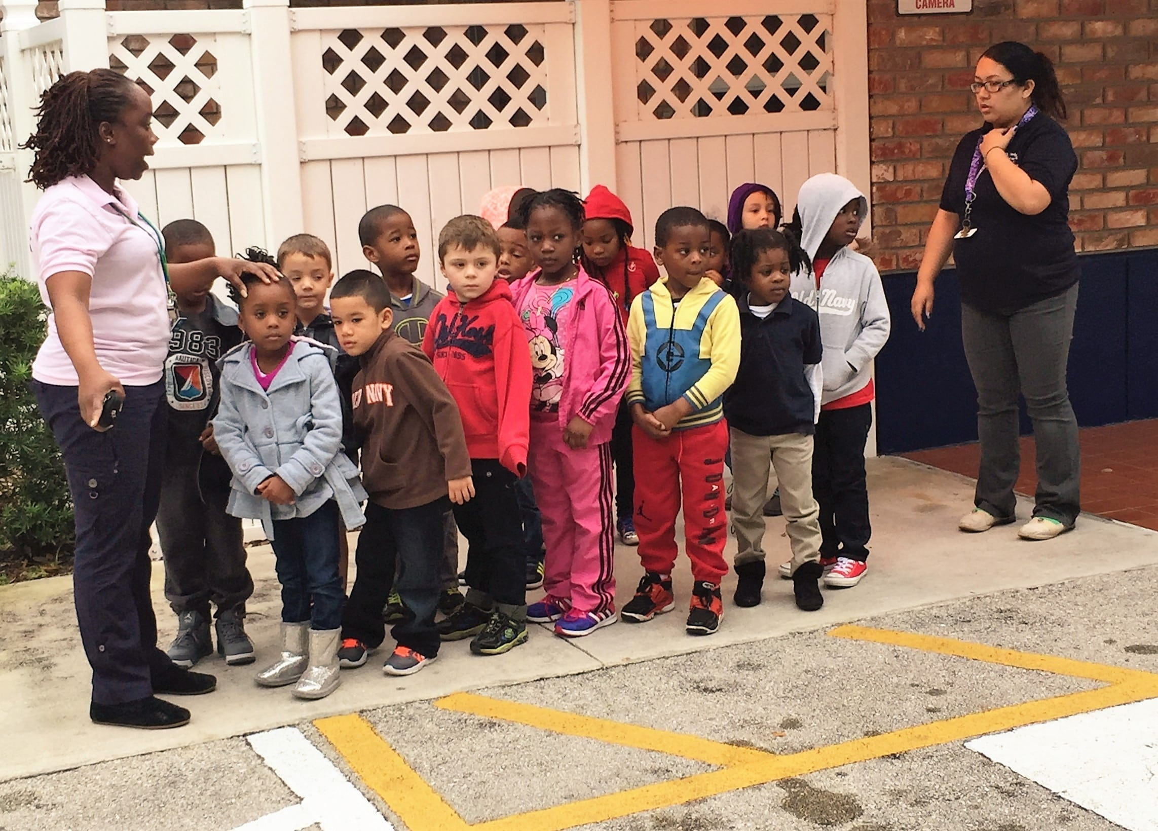 Plantation VPK learning about crossing the street
