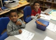 plantation vpk B practicing letter M