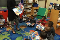 Plantation-VPK-B-reading-their-first-Clifford-Magazine